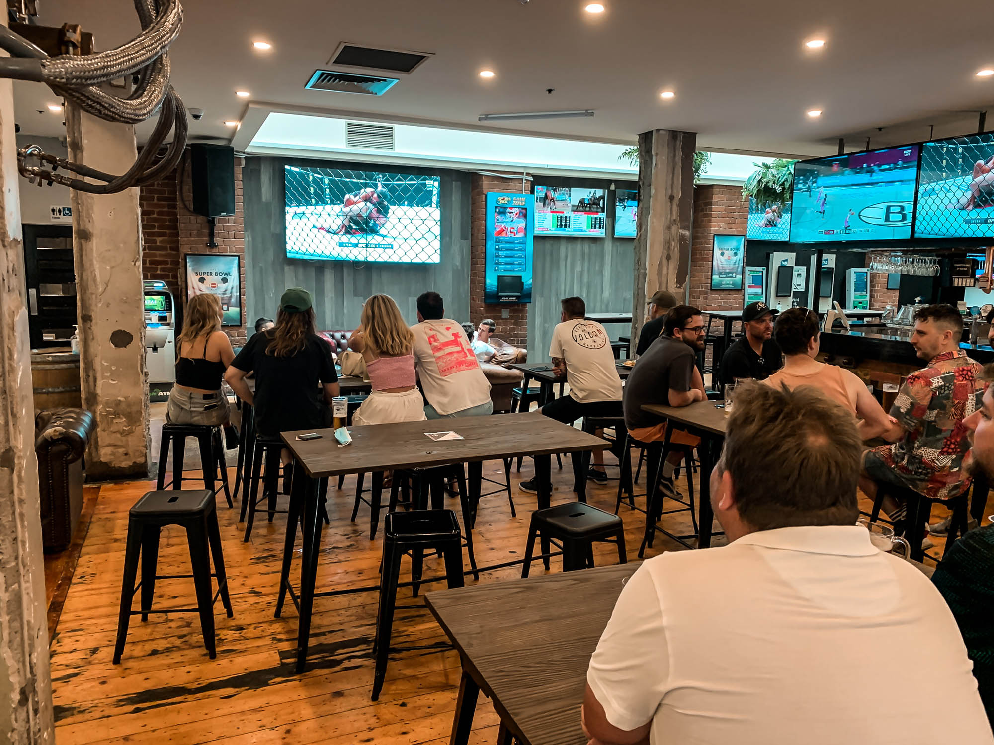 Melbourne Spots Bar showing Live Sport on the Big Screen