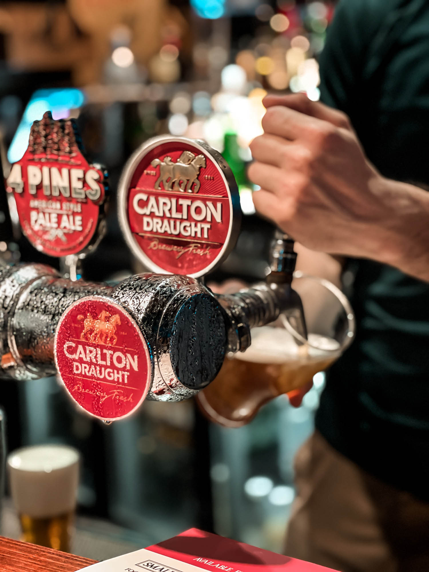Pouring Drinks at Melbourne Central Lion